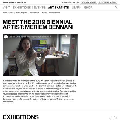 Meet the 2019 Biennial Artist: Meriem Bennani