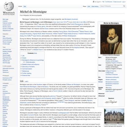 Michel de Montaigne - Wikipedia