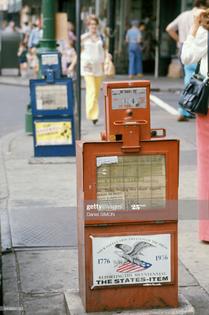 distributeur de journaux 1980