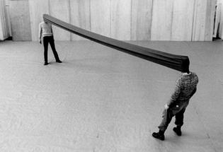 Sehkanal (Channel of Sight), 1968, Franz Erhard Walther