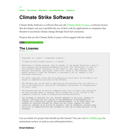 Climate Strike Software