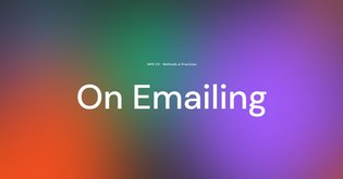 On emailing...