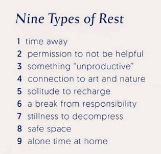 Nine types of rest
