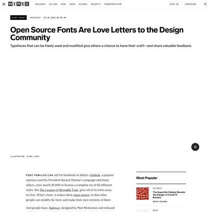 Open Source Fonts Are Love Letters to the Design Community