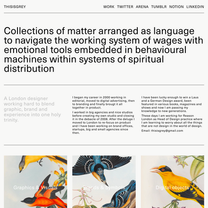 ThisisGrey — Design from Daniel Robert