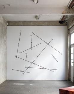 Mel Bochner, Measurement: 1' - 10', 2018