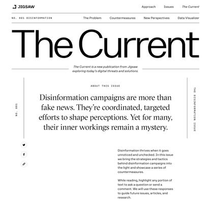 The Disinformation Issue - The Current | Jigsaw