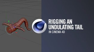 Rigging a character with an undulating tail