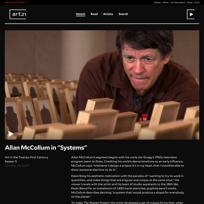 Allan McCollum in