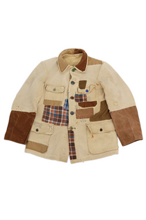 French vintage patchwork hunting jacket
