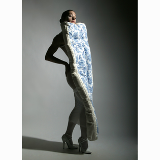 """How to Dress for society"" MATTRESS DRESS, Clarina Bezzola"
