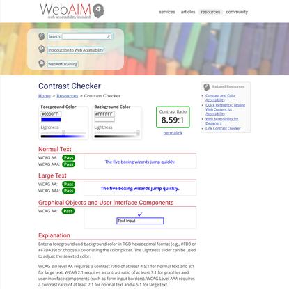 WebAIM: Contrast Checker