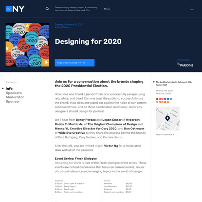 Designing for 2020