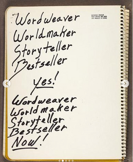 A page from Octavia Butler's Journals