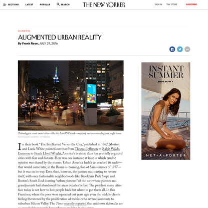 Augmented Urban Reality - The New Yorker