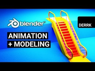 Blender Animation and Modeling in 2.8: Escalator