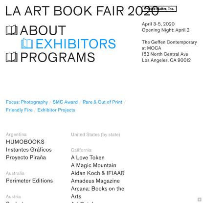 Exhibitors - LAABF 2020