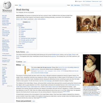 Head shaving - Wikipedia