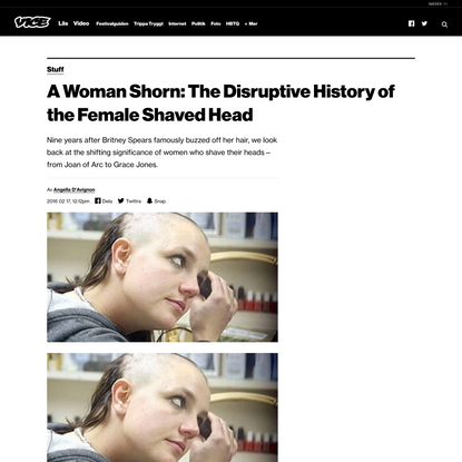 A Woman Shorn: The Disruptive History of the Female Shaved Head