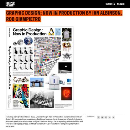 Graphic Design: Now in Production | Cooper Hewitt, Smithsonian Design Museum