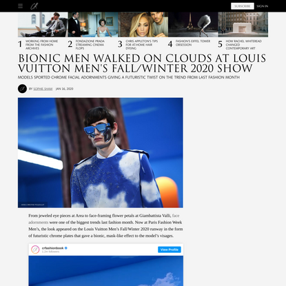 Bionic Men Walked on Clouds at Louis Vuitton Men's Fall/Winter 2020 Show
