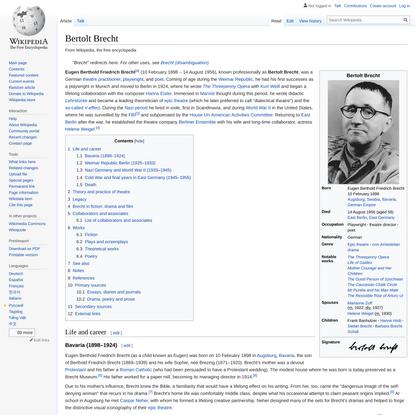 Bertolt Brecht - Wikipedia