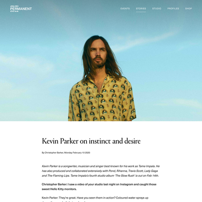 Kevin Parker on instinct and desire | Semi Permanent