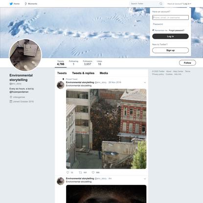 Environmental storytelling (@env_story)   Twitter