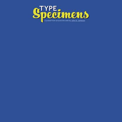 Type Specimens