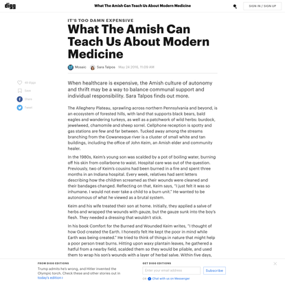 What The Amish Can Teach Us About Modern Medicine