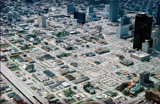 Downtown Houston in the 1970s