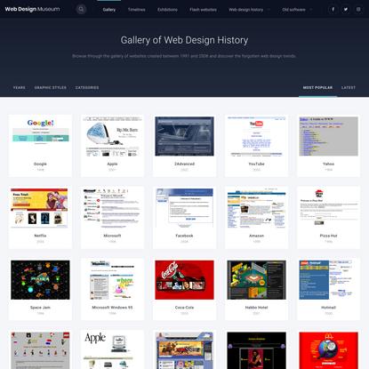 Gallery   Web Design Museum