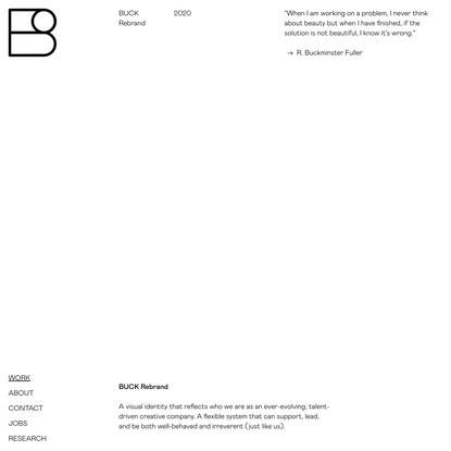 BUCK Rebrand | BUCK