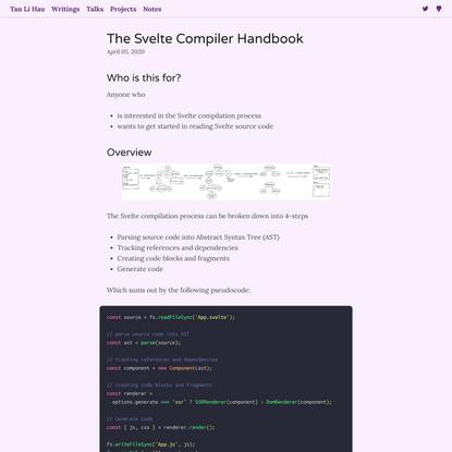 The Svelte Compiler Handbook
