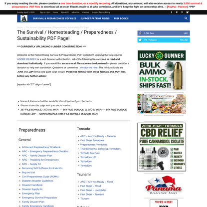 The Survival / Homesteading / Preparedness / Sustainability PDF Page!   Patriot Rising