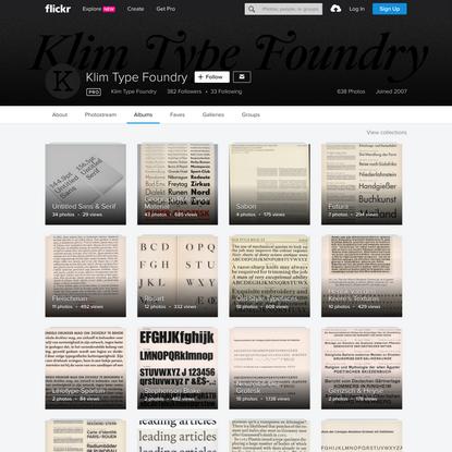 Klim Type Foundry's albums   Flickr