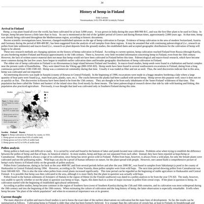 History of hemp in Finland