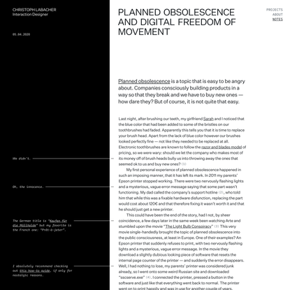 Planned Obsolescence and Digital Freedom of Movement