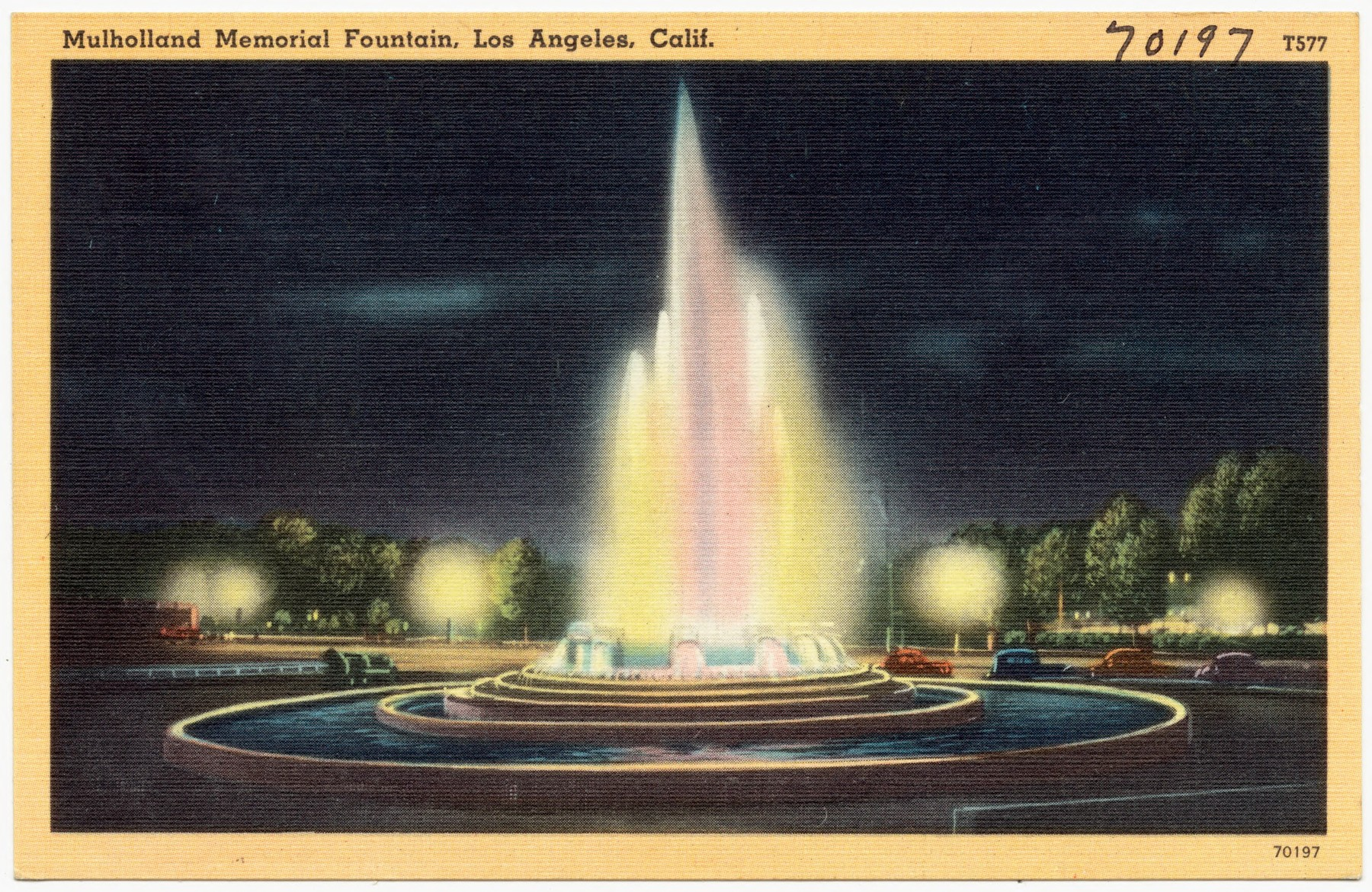 Mulholland Memorial Fountain, Los Angeles