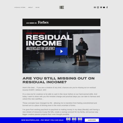 Residual Income for Creatives — Ezra Cohen