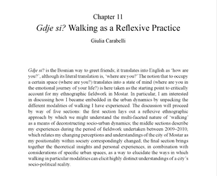 Gdje si? Walking as a reflexive practice – Guilia Carabelli