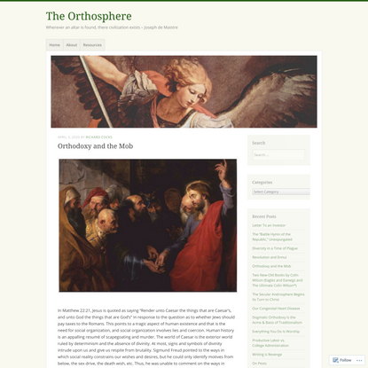 Orthodoxy and the Mob