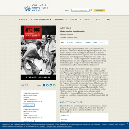 Afro-Dog   Columbia University Press