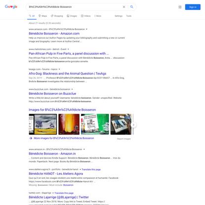 B%C3%A9n%C3%A9dicte Boisseron - Google Search