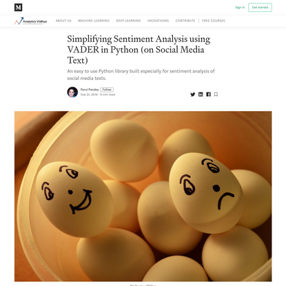 Simplifying Sentiment Analysis using VADER in Python (on Social Media Text)