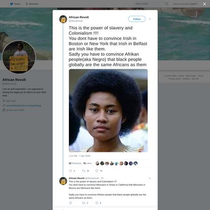 African Revolt on Twitter