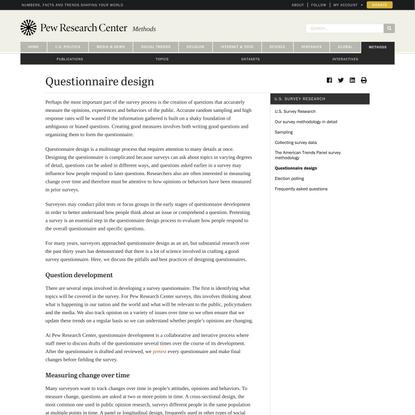 Questionnaire design - Pew Research Center Methods