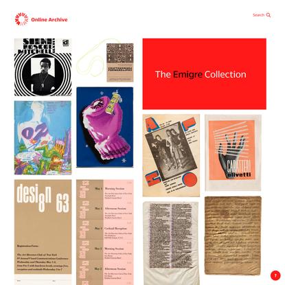 Online Archive at Letterform Archive