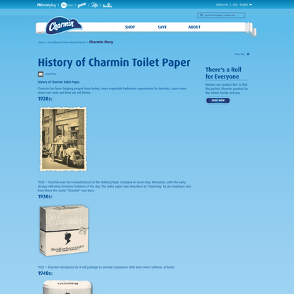 History of Charmin Toilet Paper   Charmin