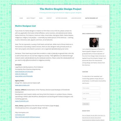 The Native Graphic Design Project